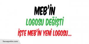 MEB'İN LOGOSU DEĞİŞTİ. İŞTE YENİ LOGO…